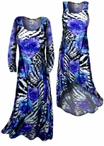 SOLD OUT! Sparkly Sequin Lightweight Black Purple Blue Animal Print Slinky Plus Size & Supersize Straight Hem or Cascading A-Line or Princess Cut Dresses & Shirts, Jackets, Pants, Palazzo's or Skirts Lg XL 0x 1x 2x 3x 4x 5x 6x 7x 8x 9x