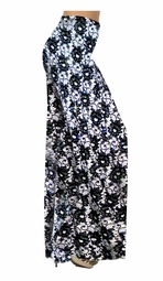 SOLD OUT!!!!!!! Customizable! New! Sparkly Sequins Black & White Floral Slinky Plus Special Order Customizable Plus Size & Supersize Pants, Capri's, Palazzos or Skirts! Lg to 9x