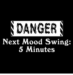 SOLD OUT! Danger - Next Mood Swing 5 Minutes! Plus Size & Supersize T-Shirts L XL 1 2x 3x 4x 5x 6x 7x 8x (Darks Only)