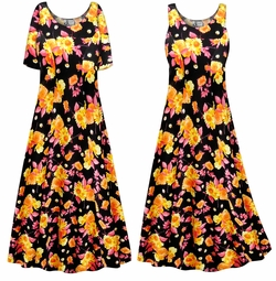 SALE! Customizable Plus Size Sunflowers Print Princess Cut Poly/Cotton Jersey Dress 0x 1x 2x 3x 4x 5x 6x 7x 8x 9x