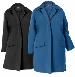 NEW! Black or Blue Raincoat With Detachable Hood Plus Size 4x 5x
