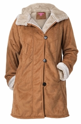 NEW! Brown Faux Shearling Coat Plus Size 4x