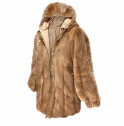 SALE! Brown Faux Fur Hooded Jacket Plus Size 4x 5x