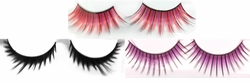 NEW! False Eyelashes! Black - Red - Purple -  False Lashes!
