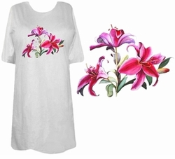 SOLD OUT! FINAL SALE! Beautiful Pink Lily Plus Size & Supersize T-Shirts 3xl 5xl