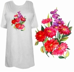 SOLD OUT! Beautiful Xenia Floral Plus Size & Supersize T-Shirts 8x