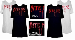 SOLD OUT! FINAL SALE! Bite Me! Blood Red Plus Size T-Shirts 2xl 6xl