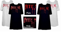 SALE! Bite Me! Blood Red Plus Size T-Shirts 2xl 6xl