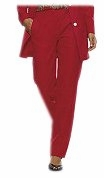 SOLD OUT! Casual Plus-Sized True Red Long Slim Linen Pants 24w/3x