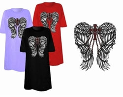 SOLD OUT! FINAL SALE! Cross & Chains Wings Plus Size & Supersize T-Shirts 5xl