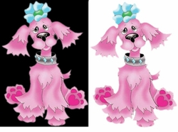 SOLD OUT! Cutest Pink Puppy with Blue Bow! Plus Size & Supersize Dog T-Shirts S M L XL 2x 3x 4x 5x 6x 7x 8x (Lights Only)