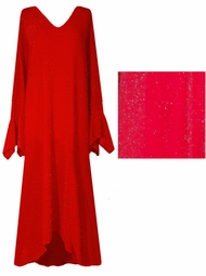 SOLD OUT !!!!! Dazzling Red Glitter Plus Size & Supersize Dresses
