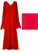 CLEARANCE !!!!! Dazzling Red Glitter Plus Size & Supersize Dresses 0x