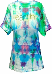 SALE! Earth Don't Turn Your Back On It 2-Sided Tie Dye Plus Size T-Shirt S M