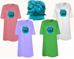 SOLD OUT! FINAL SALE! Family Of Dolphins Plus Size & Supersize T-Shirts 5xl