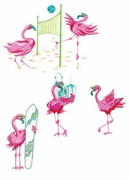 FINAL SALE! Flamingo Beach Plus Size & Supersize T-Shirts S M L XL 2x 3x 4x 5x 6x 7x 8x (Lights Only)
