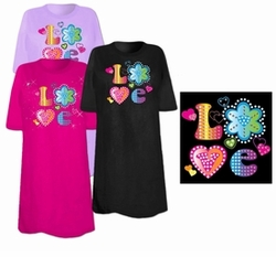 SOLD OUT! Flower LOVE Plus Size & Supersize T-Shirts