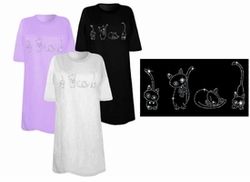 SOLD OUT! Four Cutie Kittens Sparkly Rhinestuds Plus Size & Supersize T-Shirts 3x