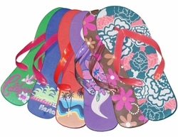 SOLD OUT! FINAL SALE! Fun Flip Flops Green Blue Sunrise Purple Chocolate Pink or Turquoise Floral 5/6 7/8