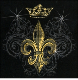 SALE! Gold Fleur De Lis & Crown Plus Size & Supersize T-Shirts S M L XL 2x 3x 4x 5x 6x 7x 8x