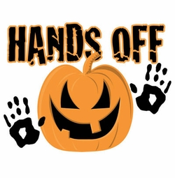 SOLD OUT! Hands Off Pumpkin Halloween Plus Size & Supersize T-Shirts S M L XL 2x 3x 4x 5x 6x 7x 8x  (Lights Only)