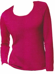 SALE! Hot Hot Hot Pink Hanes Long Sleeve Plus Size Plush Pink Long Sleeve T-Shirts 4x