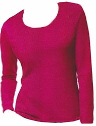 SOLD OUT! Hot Hot Hot Pink Hanes Long Sleeve Plus Size Plush Pink Long Sleeve T-Shirts 4x