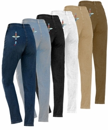 SOLD OUT! FINAL SALE! Lite Blue Plus Size Jeans With Tapered Legs 40T