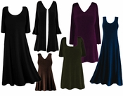 FINAL SALE! Plus Size Solid Slinky Dresses Shirts Tops Jackets & Pants! 0x 1x 2x 3x 4x 5x 6x 7x 8x 9x Black Green Purple Blue