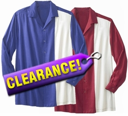 SOLD OUT! FINAL SALE! Plus Size Tall Long Sleeve Uni Rayon Bowling Shirt 3x Maroon