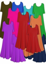 SALE! Princess Cut or A-Line Solid Slinky & Spandex Plus Size & Supersize Dresses, Tops & Tanks! Many Colors! XL 0x 1x 2x 3x 4x