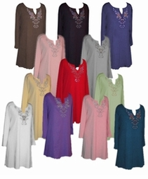 SOLD OUT! SALE! Rhinestone Plus Size & Supersize Extra Long Shirts Lg 1x 2x 8x