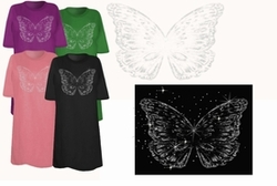 SOLD OUT! Silver Butterfly Plus Size & Supersize T-Shirts 4x