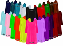 CLEARANCE! Solid Color Slinky Plus Size & Supersize Customizable A-Line Shirts XL 0x 1x 2x 3x