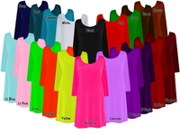 FINAL CLEARANCE SALE! Solid Color Slinky Plus Size & Supersize Customizable A-Line Shirts XL 0x 1x 4x 5x