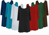 CLEARANCE! Solid Color Slinky Plus Size & Supersize Shirts Dark Green 4x 5x