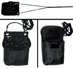 SOLD OUT!!!!!!!!!!!! FINAL SALE! Sparkle Black Pouch Bag for Cellphone, Makeup, Camera, or Whatever!
