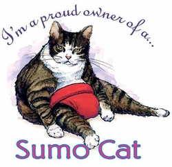 SOLD OUT! Sumo Cat Plus Size & Supersize T-Shirts S M L XL 2x 3x 4x 5x 6x 7x 8x  (Lights Only)