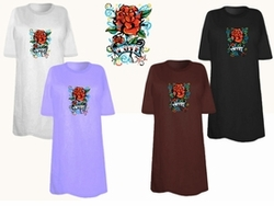 SOLD OUT! FINAL SALE! Tattoo Love Rose Plus Size & Supersize T-Shirts 6x
