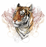 SOLD OUT!!!1! Tattoo Tiger  Plus Size & Supersize T-Shirts  S M L XL 2x 3x 4x 5x 6x 7x 8x (All Colors)