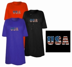 SOLD OUT! USA Flag Logo Distressed Look Plus Size & Supersize T-Shirts 7x