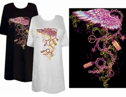 SOLD OUT! FINAL SALE! Wing & Chains Tattoo Plus Size & Supersize T-Shirts xl