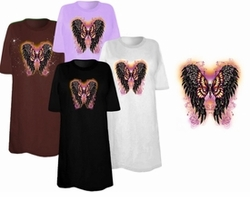 SOLD OUT! Wings & Butterfly Plus Size & Supersize T-Shirts 6x