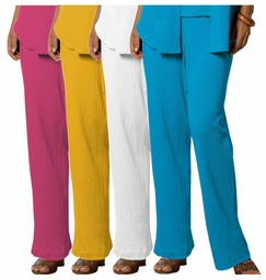 SOLD OUT! FINAL SALE! Yellow Raspberry White or Turquoise Plus-Size Comfy Knit Gauze Pants 4x