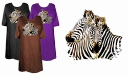 SOLD OUT! Zebra Nuzzling! Two Zebras Snuggling Plus Size & Supersize T-Shirts 5x