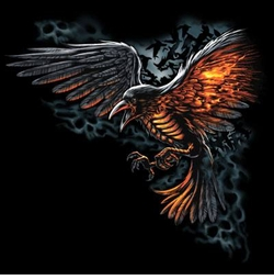 SALE! FLAMED RAVEN Plus Size & Supersize T-Shirts S M L XL 2x 3x 4x 5x 6x 7x 8x (All Colors)