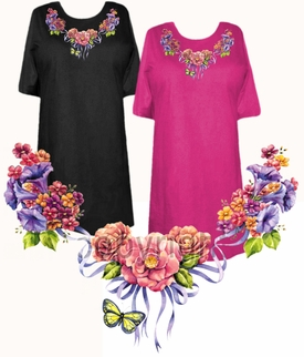 Sale floral butterfly neckline plus size supersize t for 3x shirts on sale