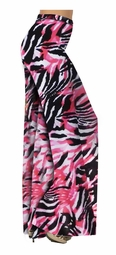 SOLD OUT! Fucshia & Black Abstract Slinky Print Special Order Customizable Plus Size & Supersize Pants, Capri's, Palazzos or Skirts! Lg to 9x