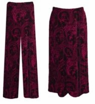 SOLD OUT! Fucshia Paisley Slinky Plus Size & Supersize Skirts