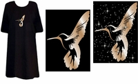 FINAL SALE! Just Reduced! Hummingbird Tattoo Plus Size & Supersize T-Shirts 2xl